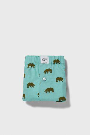 Zara Boxers de popelina com estampado de ursos