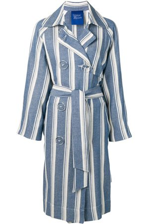 SIMON MILLER Striped trench coat