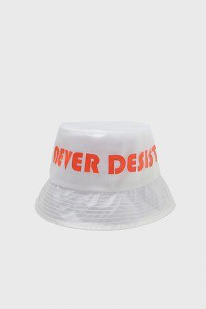 Zara Slogan rain hat