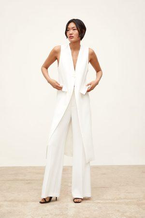 Zara Colete comprido com abertura