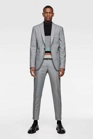 Zara Blazer de conjunto com estrutura panamá