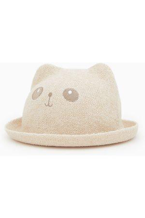 Zara Chapéu de palha com orelhas
