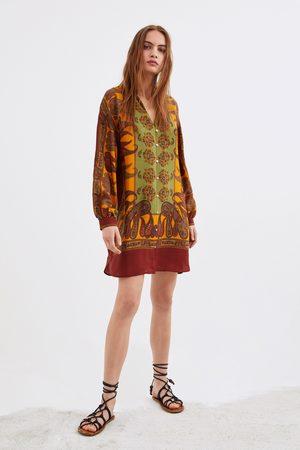 Zara Camisa comprida estampada