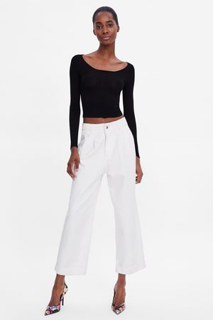Zara Sweater cropped de malha