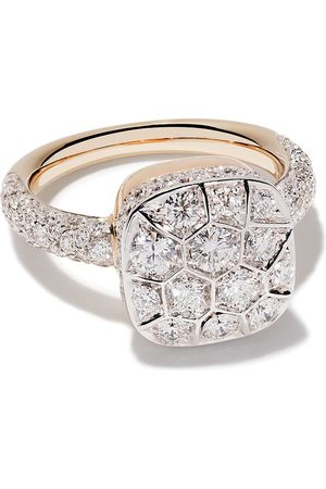 Pomellato 18kt rose and white gold Nudo diamond ring