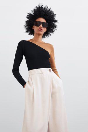 Zara Calças culotte cruzadas