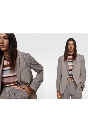 Zara Blazer de conjunto patchwork