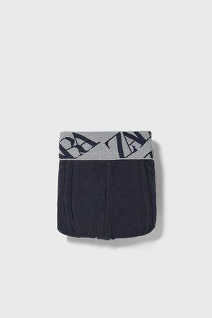 Zara BOXERS COM CINTURA COM TEXTO