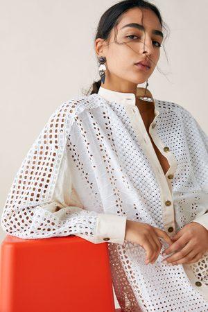 Zara Estudio camisa patchwork edição limitada