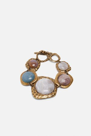 Zara Pulseira combinada com pedras edição limitada