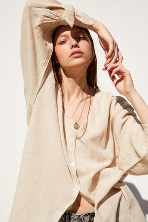 Zara Camisa de estilo rústico