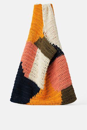 Zara Mala tote bag multicolorida de algodão