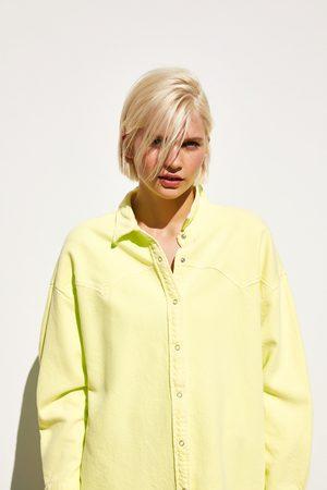 Zara Camisa larga flúor