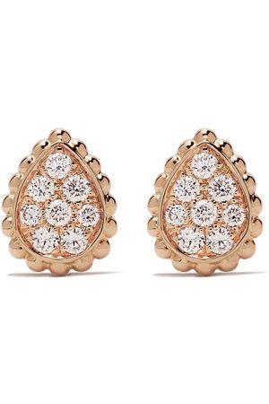 Boucheron 18kt rose gold Serpent Bohème diamonds XS motif stud earrings