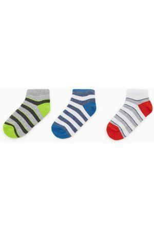 Zara Pack de três pares de meias curtas riscas