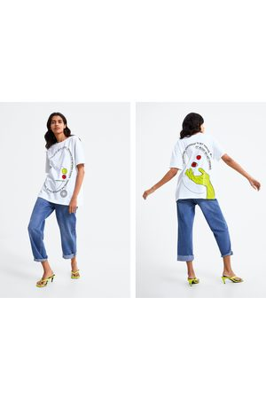 Zara T-shirt estampada texto
