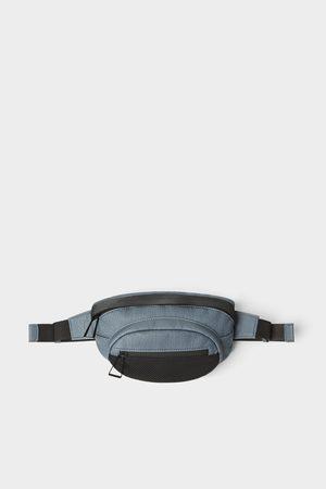 Zara Bolsa de cintura azul com detalhe de rede