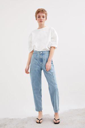 Zara Calças de ganga bolsos