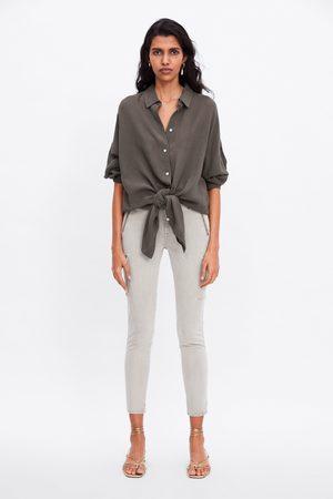 Zara Jeans zw premium skinny cargo ice stone