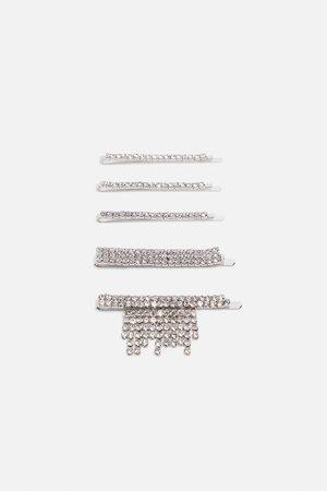 Zara Pack de ganchos com brilhos