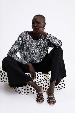 Zara Sweater cropped lantejoulas