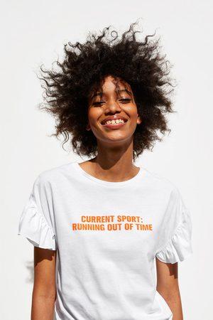 Zara T-shirt folho texto