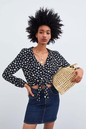 Zara Mala tote bag natural com alças de madeira