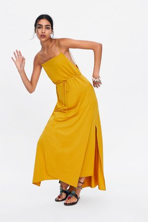 Zara Vestido tipo lingerie aberturas