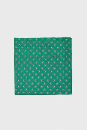 Zara Lenço de bolso com estampado de gravata
