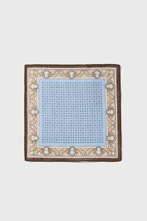 Zara Lenço de bolso com estampado combinado