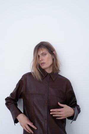Zara Camisa comprida de pele