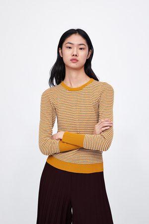 Zara Senhora Camisolas sem capuz - Sweater de estrutura