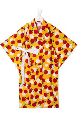 Familiar Cherry print kimono set