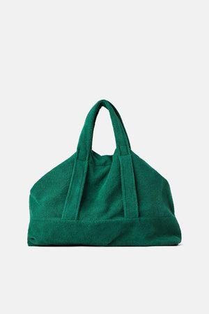 Zara Mala maxi tote bag em terrycloth