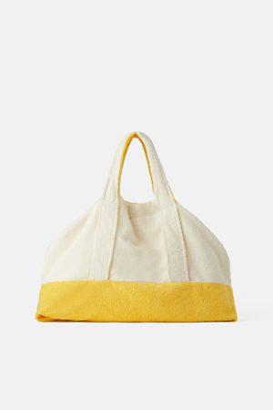 Zara Senhora Shoppers - Mala maxi tote bag em terrycloth