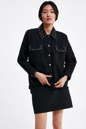 Zara Camisa comprida oversize com tachas