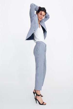 Zara Calças aos quadrados vichy