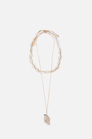 Zara Pack de 2 fios de búzio e conchas