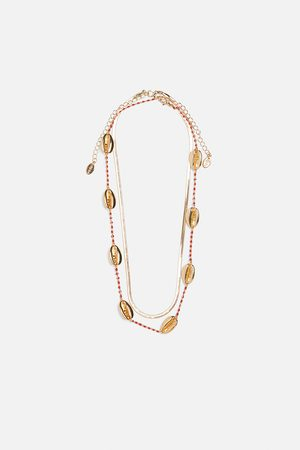Zara Pack of 2 shell necklaces
