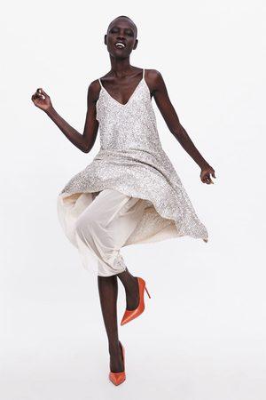 Zara Strappy sequinned dress