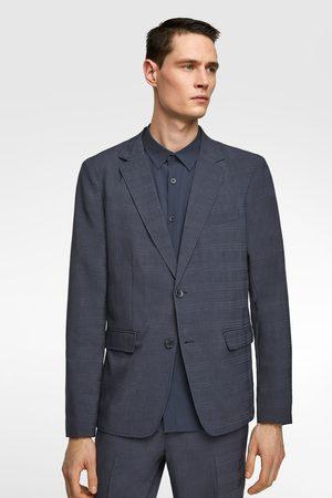 Zara Homem Blazers - Blazer conjunto quadrados
