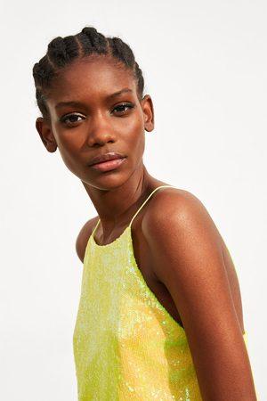 Zara Neon sequin top