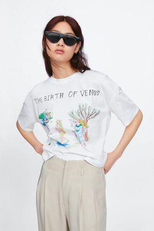 Zara T-shirt com estampado the birth of venus