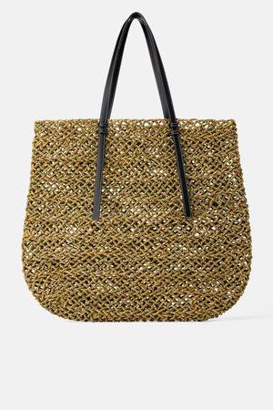 Zara Mala maxi shopper plana natural