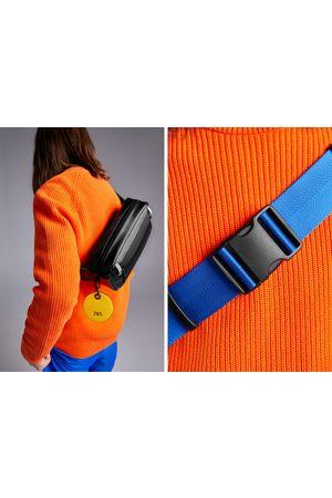 Zara Bolsa de cintura preta com detalhe colorido
