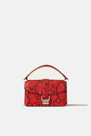 Zara Mini mala city bag com estampado animal