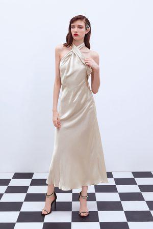 Zara Vestido com decote halter edição limitada
