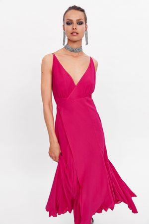 Zara Vestido comprido cruzado edição limitada