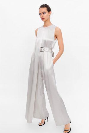 Zara Macacão comprido com cinto edição limitada