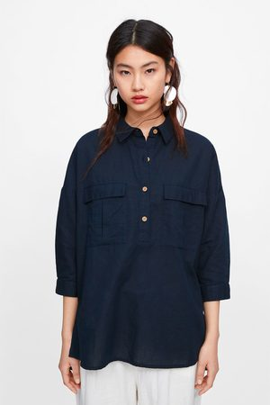 Zara Camisa oversize bolsos